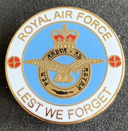 Royal Air Force Lest We Forget Pin Badge