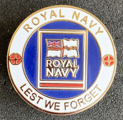 Royal Navy Lest We Forget Pin Badge