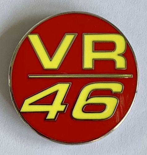 Valentino Rossi VR 46 Pin Badge (Red)