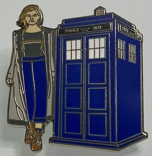 Doctor Who 13th Doctor With Tardis Enamel Pin Badge