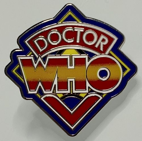 Doctor Who 1980s Classic Logo Enamel Pin Badge