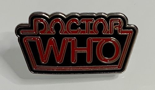 Doctor Who Neon Logo Pin Badge (Red)