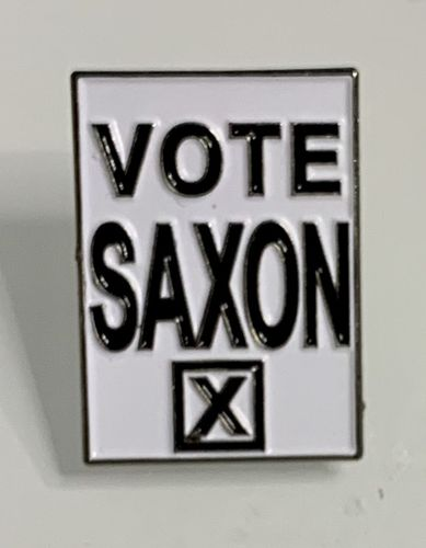 Doctor Who Vote Saxon Pin Badge