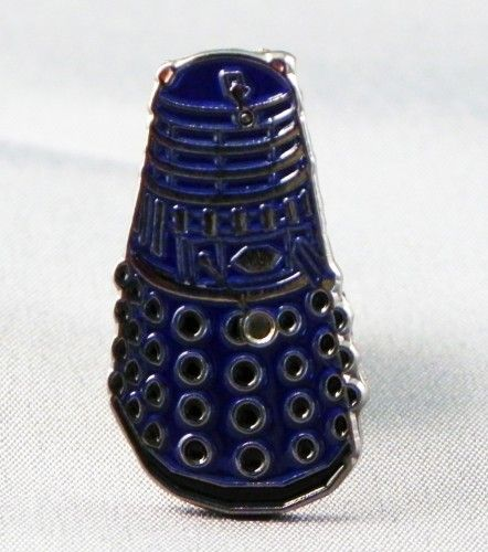 Doctor Who Blue Dalek Pin Badge
