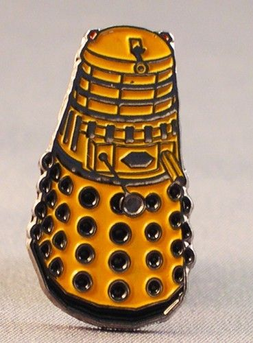 Doctor Who Yellow / Gold Dalek Pin Badge