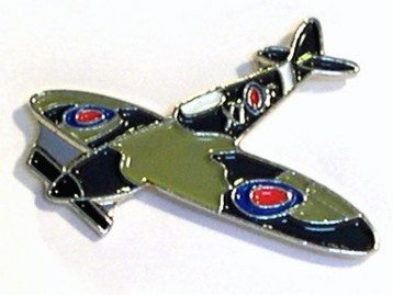 WWII Spitfire Aircraft Pin Badge