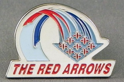 Red Arrows Flight Path Pin Badge