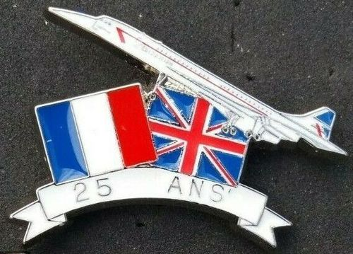 Concorde 25th Anniversary Pin Badge